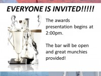 Racing Awards Presentation & TGIS Sunday Afternoon at the  Club